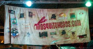 Banner from the Mosquito Heads Band Miami.